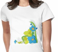 floral pattern, floral ornament Womens Fitted T-Shirt