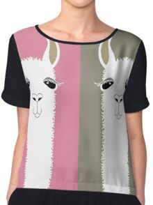 LLAMAS FOUR Chiffon Top