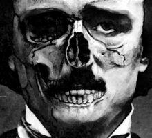 Edgar Poe Horror Mask Sticker