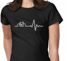 Bike Life White Womens Fitted T-Shirt