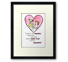 Peter Pan and Wendy Framed Print