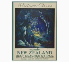 Vintage poster - Waitomo Caves One Piece - Short Sleeve