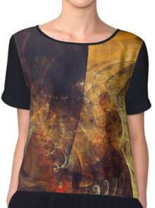 Abstract Notes Fractals Chiffon Top