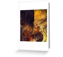 Abstract Notes Fractals Greeting Card
