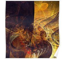 Abstract Notes Fractals Poster