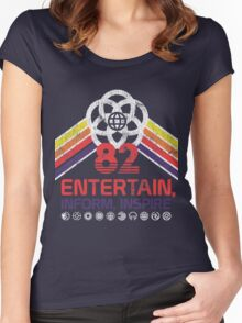 EPCOT Shirt - Distressed Logo - Entertain Inform Inspire Women's Fitted Scoop T-Shirt