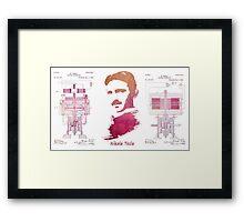 Nikola Tesla - Apparatus for aerial transportation Framed Print