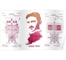 Nikola Tesla - Apparatus for aerial transportation Poster