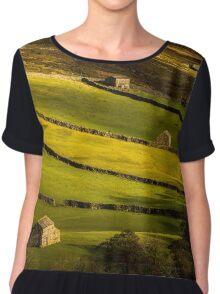 Swaledale Barns - Yorkshire Dales Chiffon Top