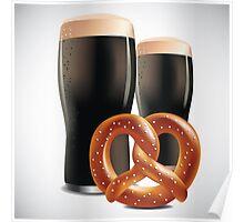 Beer and pretzels Poster