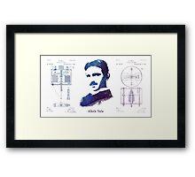 Nikola Tesla Patent Art Electric Arc Lamp Framed Print