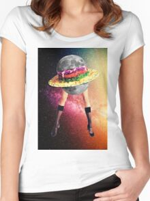 Moon snack Women's Fitted Scoop T-Shirt