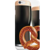 Beer and pretzels iPhone Case/Skin