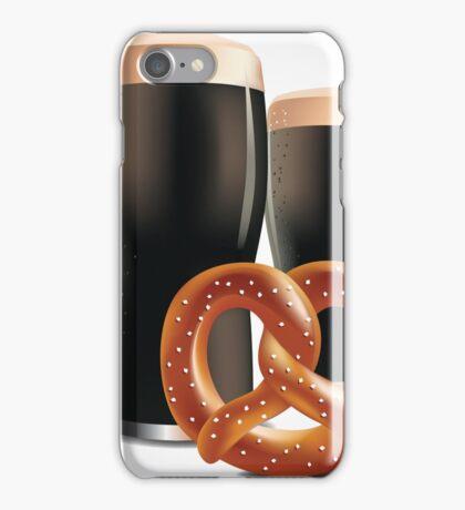 Beer and pretzels iPhone Case/Skin