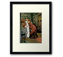 Young Ladies Look at Japanese Art Framed Print