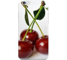 three sour cherries iPhone Case/Skin