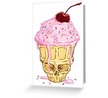 Skullcone Icecreamforbrains Greeting Card