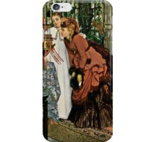 Young Ladies Look at Japanese Art iPhone Case/Skin
