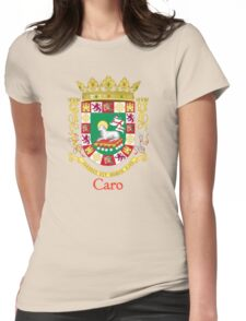 Caro Shield of Puerto Rico Womens Fitted T-Shirt