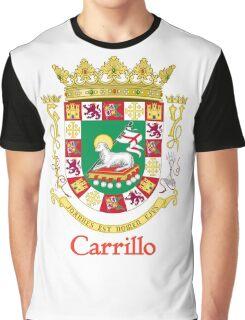 Carrillo Shield of Puerto Rico Graphic T-Shirt