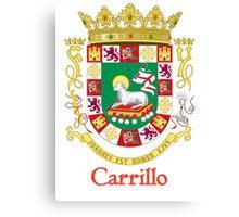 Carrillo Shield of Puerto Rico Canvas Print