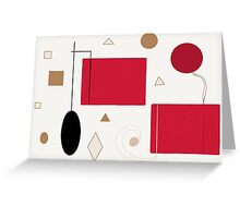 Abstract Shapes Greeting Card
