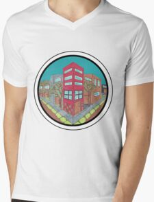 Street Perspective- Drawing Mens V-Neck T-Shirt