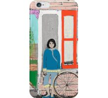 Girl and Bicycle iPhone Case/Skin