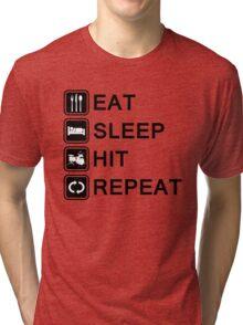 drummer life (black) Tri-blend T-Shirt