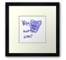 Blue Lion: Voltron Legendary Defender Framed Print