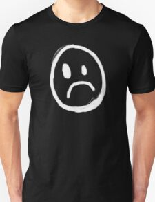 Content with KAOS unhappy face symbol T-Shirt