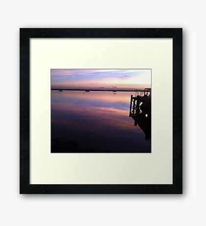 River Crouch Sunset 1 Framed Print