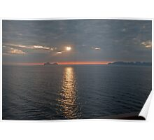 Sunset in Norway June Poster