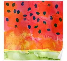 Abstract Watermelon Poster