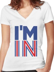 I'm In (Remain) Women's Fitted V-Neck T-Shirt
