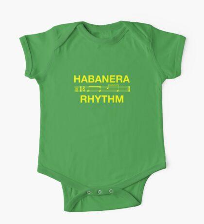 Habanera rhythm yellow One Piece - Short Sleeve