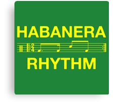 Habanera rhythm yellow Canvas Print