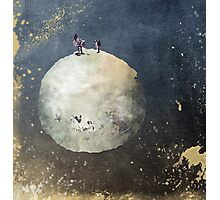 Men walk on Moon Photographic Print