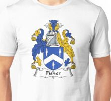 Fisher Coat of Arms / Fisher Family Crest Unisex T-Shirt