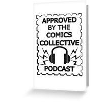 Comics Collective Podcast Logo Greeting Card