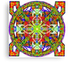 Glowing Cross Lain Over Celestial Fantasy Canvas Print