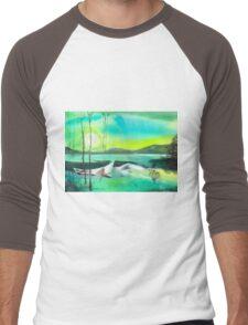 White Boat Men's Baseball ¾ T-Shirt