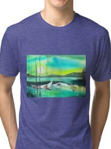 White Boat Tri-blend T-Shirt