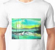 White Boat Unisex T-Shirt