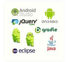 android programming lenguage sticker set Art Print