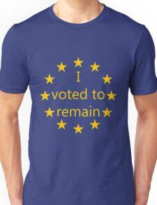 I voted to remain, EU Unisex T-Shirt