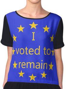 I voted to remain, EU Chiffon Top