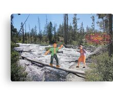 Ed experienced the serendipity of timing  when he ran across a babbling Brooke. Metal Print
