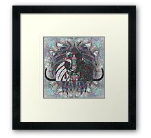 Romantic Cats Kiss Framed Print