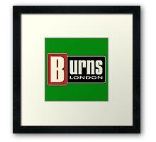 Vintage Burns London Framed Print
